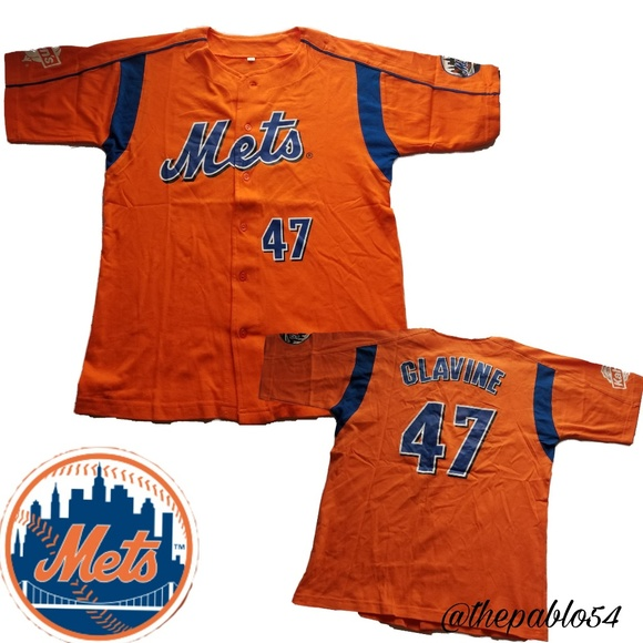 online store 8490e b7e5c Big Kids NY Mets Jersey Tee(L)